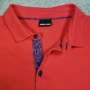 Jared Lang Polo Shirt 2XL Multicolor Weave Placket